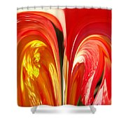 Red N Yellow Flowers 4 Shower Curtain