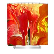 Red N Yellow Flowers 5 Shower Curtain