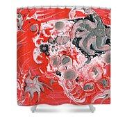 Red Nebula Shower Curtain