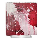 Red Number Seven Shower Curtain