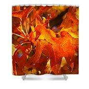 Red Oak Leaf Shower Curtain