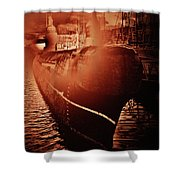 Red October -3 Shower Curtain