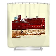 Red One And Two Shower Curtain