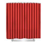 Red Orange Striped Pattern Design Shower Curtain