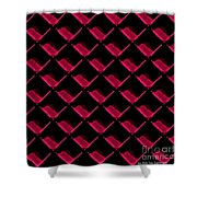 Red Ortho Shower Curtain