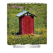 Red Outhouse 3 Shower Curtain