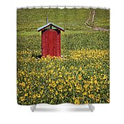 Red Outhouse 6 Shower Curtain