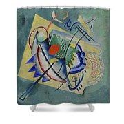Red Oval By Vassily Kandinsky Shower Curtain