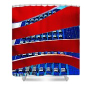 Red Over Blue Shower Curtain