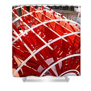 Red Paddle Wheel Shower Curtain