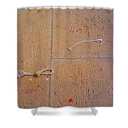 Red Paint Splash Shower Curtain
