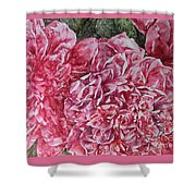 Red Peonies Shower Curtain