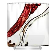 Red Pepper And Bay Leaf Shower Curtain