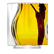 Red Pepper In Olive Oil Shower Curtain