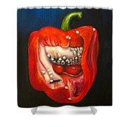 Red Pepper Oil Painting Shower Curtain