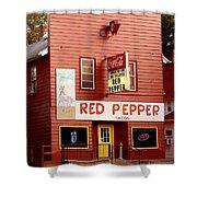 Red Pepper Restaurant Shower Curtain