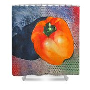 Red Pepper Solo Shower Curtain