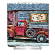 Red Pick Up Shower Curtain
