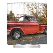 Red Pick-up Shower Curtain by Steve Gravano