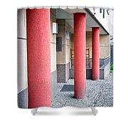 Red Pillars Shower Curtain