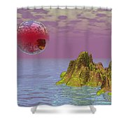 Red Planet Fantasy Shower Curtain
