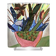 Red Planter Shower Curtain