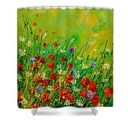 Red Poppies 450708 Shower Curtain