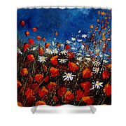 Red Poppies 451108 Shower Curtain