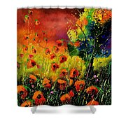 Red Poppies 451130 Shower Curtain