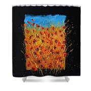 Red Poppies 6771 Shower Curtain