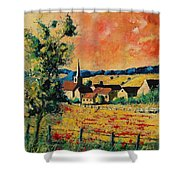 Red Poppies In Gendron Shower Curtain