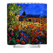 Red Poppies In Houroy Shower Curtain