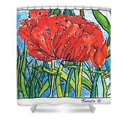 Red Poppy 1 Shower Curtain