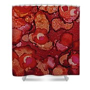 Red Poppy Profusion Shower Curtain