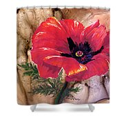 Red Poppy Shower Curtain
