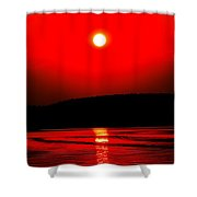 Red Power Shower Curtain