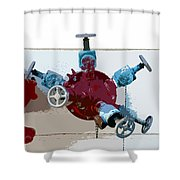 Red Pump Shower Curtain