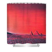 Red Pyramid W Shower Curtain
