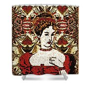 Red Queen Baroque Shower Curtain