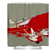 Red Racer Shower Curtain