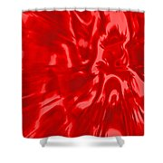 Red, Red Lava Shower Curtain