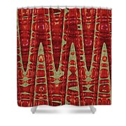 Red Ripe Pomagranite Abstract Shower Curtain