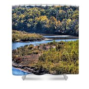 Red River Bend Shower Curtain