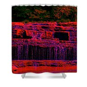 Red River Falls Shower Curtain