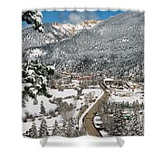 Red River In Winter Shower Curtain