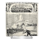Red River Rebellion, 1870 Shower Curtain