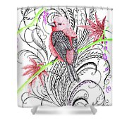 Red Robin Shower Curtain
