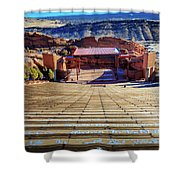 Red Rock Amphitheater Shower Curtain