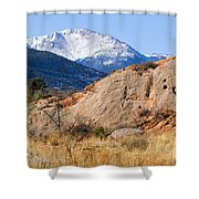 Red Rock And Pikes Peak Shower Curtain