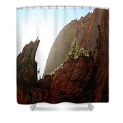 Red Rock At Zion Shower Curtain